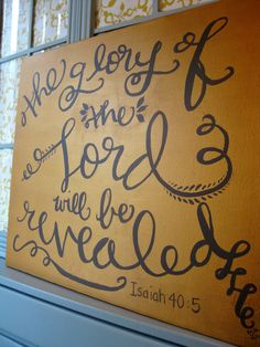 Scripture Art Canvas // Hand Lettered Bible Verse Decor. $107.00, via Etsy.