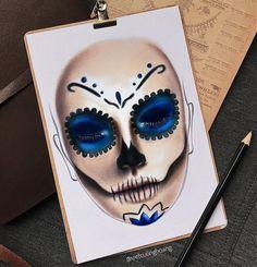 Serene Blue Skull Show by our facechart expert @vietcuonghoang