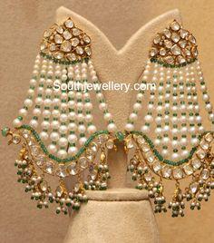 Flat Diamond and Pearls Chandbalis photo