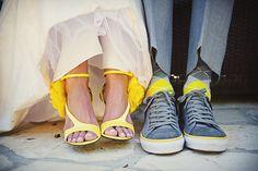 i love wedding shoe pictures :)  #shoes, #wedding, #yellow