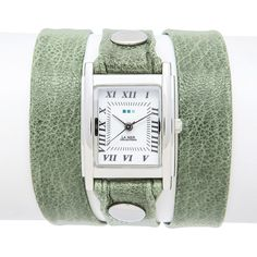 La Mer Collections Sage Silver Square Triple Wrap (375522501) ($59) ❤ liked on Polyvore featuring jewelry, watches, sage, wrap watch, silver watches, handcrafted jewelry, wrap watches and la mer watches