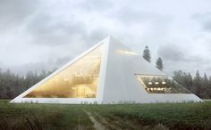 An Unusual Pyramid-Shaped House With A Gorgeous Glass Facade - DesignTAXI.com