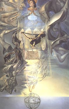 "a-voz-do-silencio: "" Assumpta Corpuscularia Lapislazulina, by Salvador Dali, "" Pictures To Draw, Art Pictures, Figueras, Salvador Dali Paintings, Picasso Cubism, Spanish Artists, Famous Art, Sacred Art, Surreal Art"