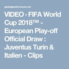 VIDEO  › FIFA World Cup 2018™ - European Play-off Official Draw : Juventus Turin & Italien - Clips World Cup 2018, Fifa World Cup, Turin, Draw, To Draw, Sketches, Painting, Tekenen, Drawing