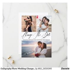 Shop Simple Modern Calligraphy Photo Wedding Save The Date created by MSJ_DESIGNS. Wedding Crafts, Diy Wedding, Wedding Photos, Wedding Ideas, Wedding Save The Dates, Save The Date Cards, Good Cheer, Wedding Announcements, Modern Calligraphy