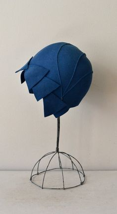 felted wool 20s cloche hat