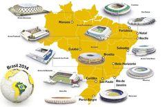Por segunda vez en la historia #Brasil recibe el #Mundial y después de 36 años el gran evento vuelve a Sudámerica. Conoce las sedes de la #CopadelMundo 2014 y revisa el calendario de partidos en nuestro especial.