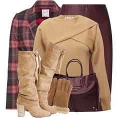 A fashion look from January 2015 featuring oversized sweaters, crew jacket and pencil skirt. Browse and shop related looks.
