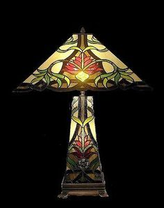 Tiffany style Stained glass Table Lamp QHS181816