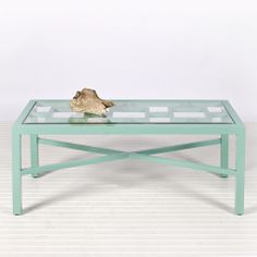 Worlds Away Winter Harbor Coffee Table - Turquoise