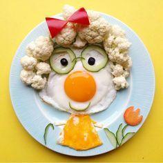 Grandma-breakfast❤Good morning❤☉ Bestemor-frokost❤god morgen☉ Food Art For Kids, Cooking With Kids, Cute Snacks, Cute Food, Toddler Meals, Kids Meals, Finger Foods For Kids, Food Carving, Cute Fruit
