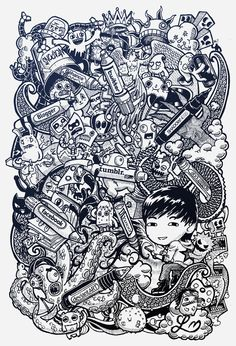 DOODLE ART: Social Pens by Lei Melendres, via Behance