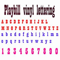 playbill vinyl font lettering decals custom made name 15 inch decal weather resistant jeeps cars