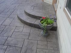 Stamped Concrete Patios Traditional
