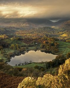 Loughrigg Tarn, Cumbria, NW England. by Pete Hyde