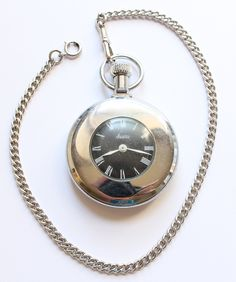Vintage Sears Large Mechanical Pocket Watch with Watch Chain Works by paststore on Etsy
