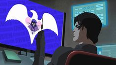 Nightwing watches Teen Titans Go!
