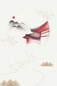 禅定之道中国风禅意创意海报背景素材背景图片素材 Poster Design
