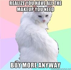 Pretty much sums my makeup addiction up