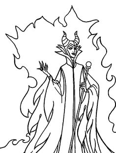 Disney Maleficent coloring pages Disney