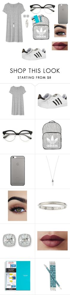 """""""Untitled #310"""" by sparkle-i ❤ liked on Polyvore featuring Gap, adidas, Topshop, Native Union, Marc Jacobs, Cartier, Frederic Sage, Five Star and Vera Bradley"""