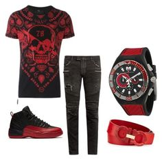 A menswear look from July 2016 featuring men's cotton short sleeve shirts, mens skinny biker jeans and mens watches jewelry. Browse and shop related looks. Dope Outfits For Guys, Swag Outfits Men, Stylish Mens Outfits, Tomboy Outfits, Tomboy Fashion, Cool Outfits, Casual Outfits, Mens Fashion, Tomboy Swag