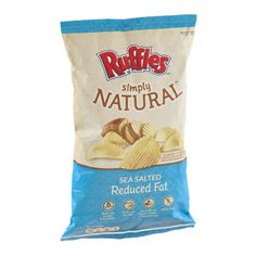 I'm learning all about Ruffles Simply Natural Sea Salted Reduced Fat Potato Chips at @Influenster!