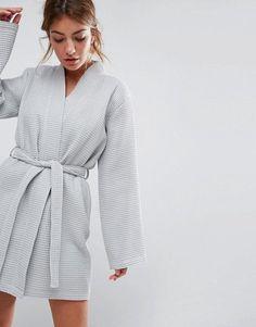 ASOS   ASOS Waffle Hotel Robe In 100% Cotton