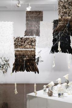 """Feather"" – exposition Nelly Saunier Galerie @KCUA Kyoto, Japan Photos © Tekeru Koroda"