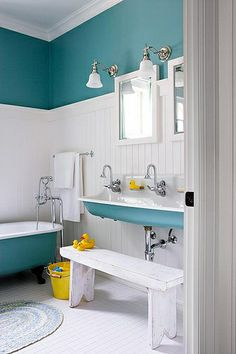 Love the matching paint on the fixtures/walls.Remodeling Inspiration by LilyJaneStationery, via Flickr