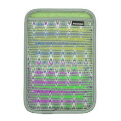 Ipad Mini Sleeve Colorful Zigzag pattern design