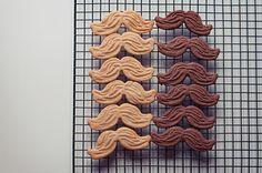 Marvelous Mustache Cookies - foodista.com