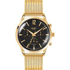 Unisex Watch Henry London mm) Original Price € , buy Now and Get Hermes, Seiko, Mesh Bracelet, Bracelets, Black And Gold Watch, Versace, Black Crystals, Stainless Steel Watch, Quartz Watch