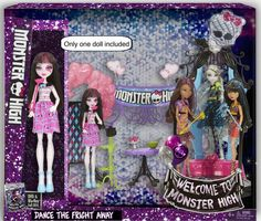 Welcome to Monster High playset. Ugly. Lame. and sad. Look at how boring and cheap the outfits and dolls themselves look in relation to everything they've created thus far.