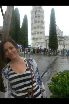 Gemma in Italy. It's funny how much she and Harry look alike. They even have the same dimples!