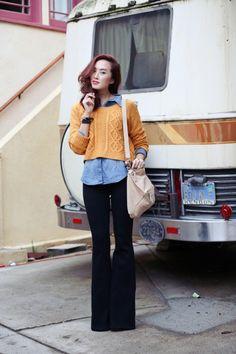 How To Wear Flared Denim   theglitterguide.com