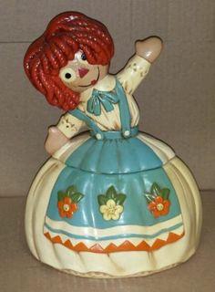 RARE Vintage Twin Winton Collectors Series Raggedy Ann Vintage Cookie Jar Nice | eBay