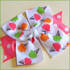 Gather your crafting supplies and let's have some fun on the blog! Learn how to make this super-easy and cute beginner level hair-bow with easy to follow instructions.  The HairBow Center has loads of adorable prints, dots, and solid ribbons to mix-and-match in this bow style!