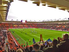 Southampton F. English Football Stadiums, Southampton Fc, Sports Stadium, Crystal Palace, Cover Photos, Premier League, Britain, Saints, England