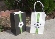 Soccer Birthday Party Theme Favor Bags