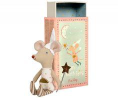 Knuffel muis tandenfee roze