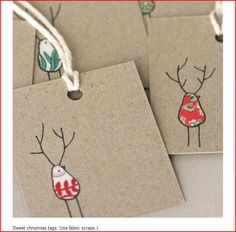 fabric scraps tags