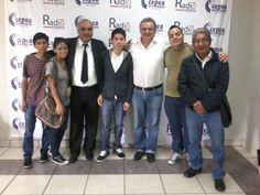 Con Gustavo Guerra García, gestor de la reforma de transporte durante la gestión municipal de Susana Villarán, junto a Percy Espino y al equipo de Radio Cepea. (2015)