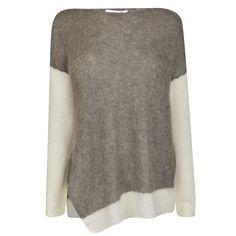 Helmut Lang Alpaca Bi Colour Jumper | Womens Designer Knitwear at Flannels.com