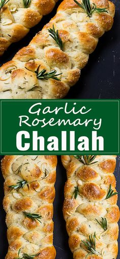 Garlic rosemary challah is a deliciously savory challah, with classic flavors of roasted garlic powder and freshly chopped rosemary - pizza Kosher Recipes, Cooking Recipes, Healthy Recipes, Kosher Food, Cooking Games, Meal Recipes, Recipies, Challah Bread Recipes, Best Challah Recipe