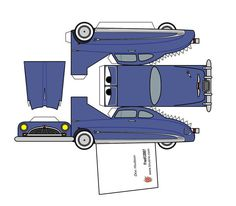 Manualidades con papel Paper Model Car, Paper Car, Paper Models, Disney Cars Party, Disney Pixar Cars, Cardboard Toys, Paper Toys, Hudson Car, Cars Birthday Parties