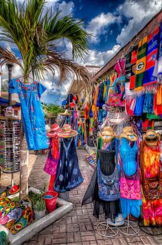 Cozumel, Mexican Flea Market, woah this looks exactly how I imagine Mexico. Cruise Vacation, Disney Cruise, Vacation Spots, Vacations, Mexico Vacation, Cozumel Mexico Cruise, Cozumel Excursions, Cruise Tips, Costa Maya