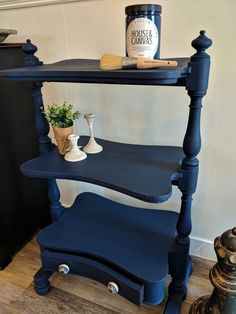 Shelf Painted With House&Canvas Rich Navy Chalk Finish Paint