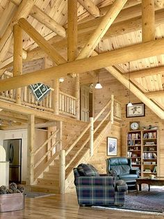 Take a look at our log cabin floor plans and houses and log home designs in our photo gallery to see how we use quality craftsmanship and expertise to create log homes. Log Cabin Living, Log Cabin Homes, Log Cabins, Chalet Design, House Design, Log Cabin Floor Plans, Barn Plans, Log Home Interiors, Log Home Designs