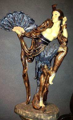 Chiparus inspired Art Deco statue